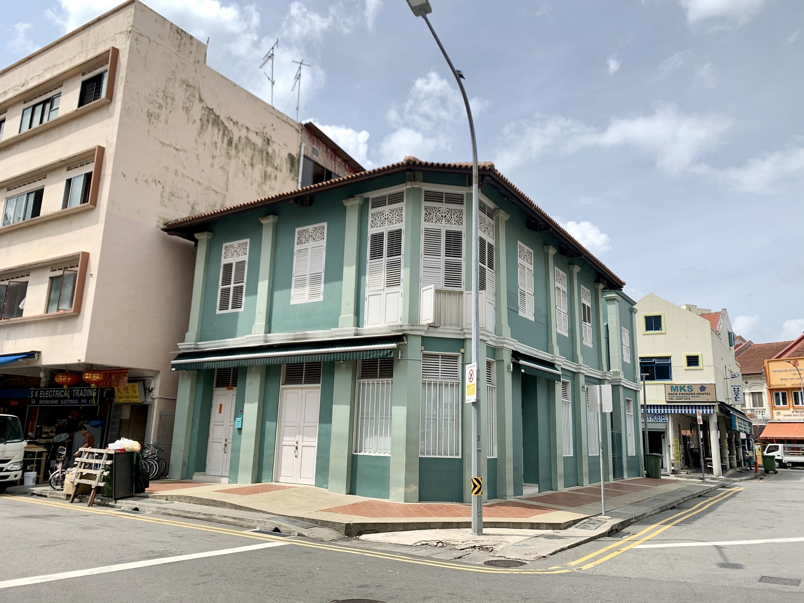 The corner shophouse on Upper Weld Road that's on the market for $7.5 mil (Photo: Pearly Tan/PropNex Realty)