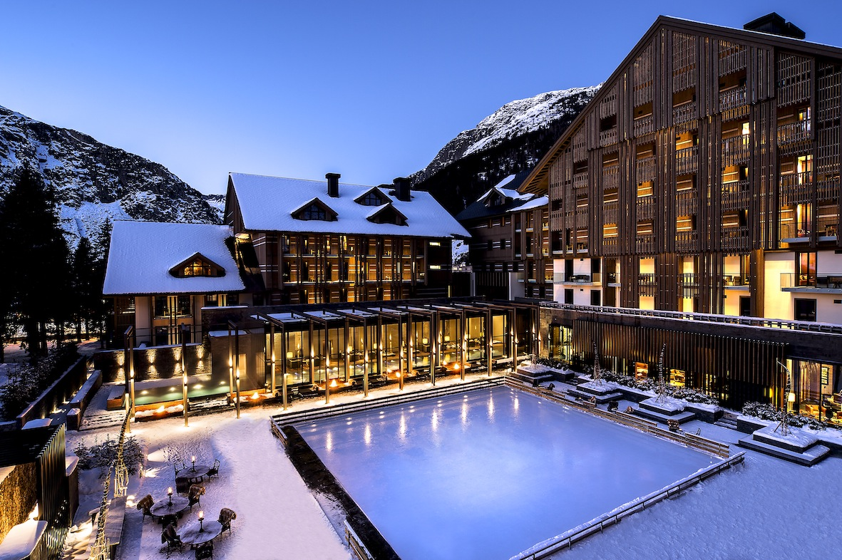 The five-star, The Chedi, which opened in 2013 is one of two completed hotels at Andermatt today (Photo: Andermatt Swiss Alps)