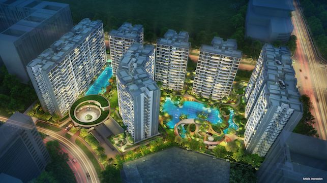 PARC-CENTRAL-RESIDENCES-Aerial-Night-View-artist-impression - EDGEPROP SINGAPORE
