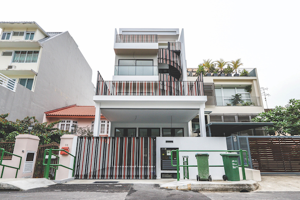 ABN Holding had redeveloped an intermediate terraced house on Chuan Hoe Avenue into a contemporary three-storey house and sold it for $3.78 million ($1,611 psf) in June 2018 (Photo: ABN Holding)