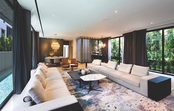 The spacious living room on the first leel of the detached house at 6 Holland Grove Lane which has been turned into a show house by Edmund Ng Architects (Photo: Albert Chua/EdgeProp Singapore) - EDGEPROP SINGAPORE