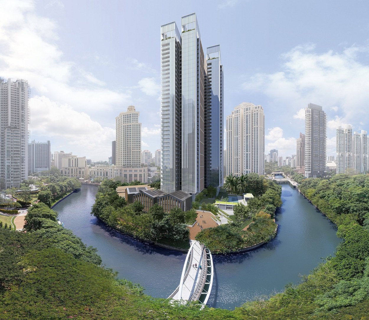 RIVIERE - Artist's impression of the upcoming 455-unit luxury residences at Riviere on the Jiak Kim Street site - EDGEPROP SINGAPORE