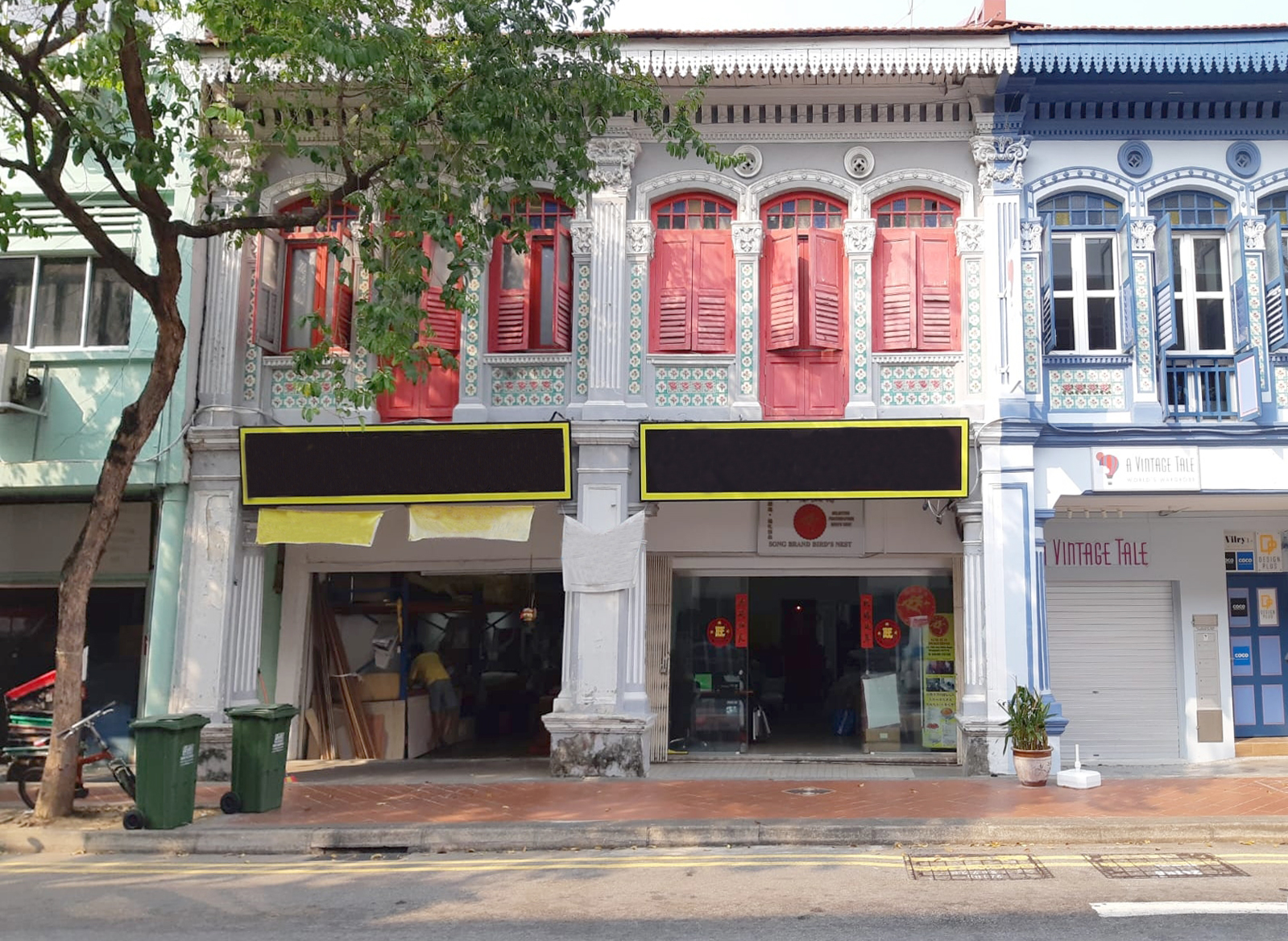CONSERVATION SHOPHOUSE - The guide price for the two tenanted shophouses at Joo Chiat is at $7 million to $7.5 million. (Credit: Knight Frank Singapore)