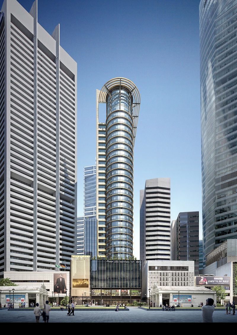 30 RAFFLES PLACE - Artist's impression of 30 Raffles Place (Credit: JLL) - EDGEPROP SINGAPORE