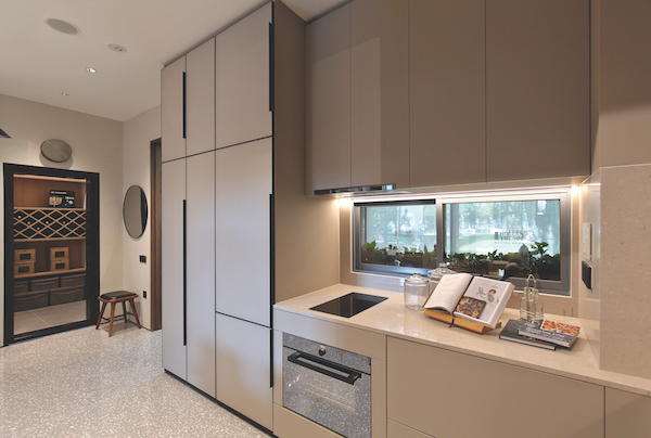 The kitchen of a show unit for Leven, which has only 21 two-bedroom apartments of 807 to 1,087 sq ft (Credit: Samuel Isaac Chua/ The Edge Singapore) - EDGEPROP SINGAPORE