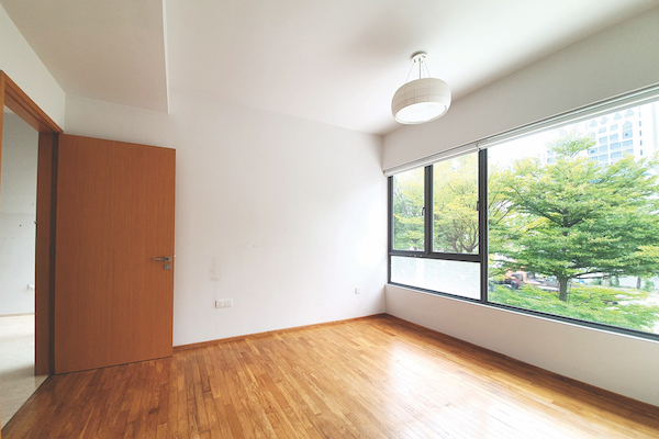 The unit on the second floor is bright and airy (Credit: Edmund Tie)