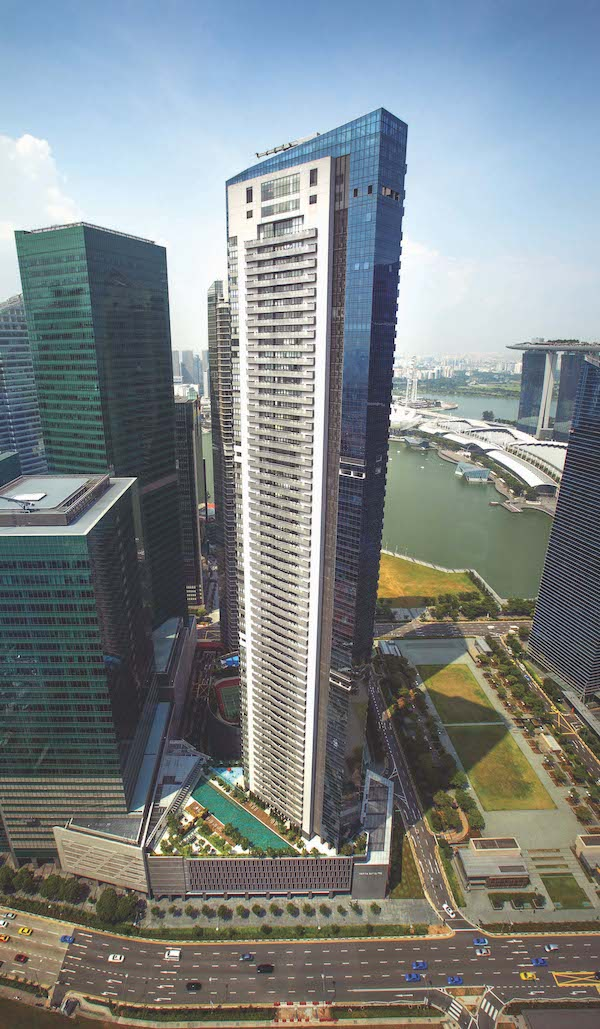 The 11th floor unit at Marina Bay Suites sustained a 35% loss of $2.497 million after it was sold for $4.68 million ($1,746 psf) on Nov 14 (Credit: Samuel Isaac Chua/ The Edge Singapore)