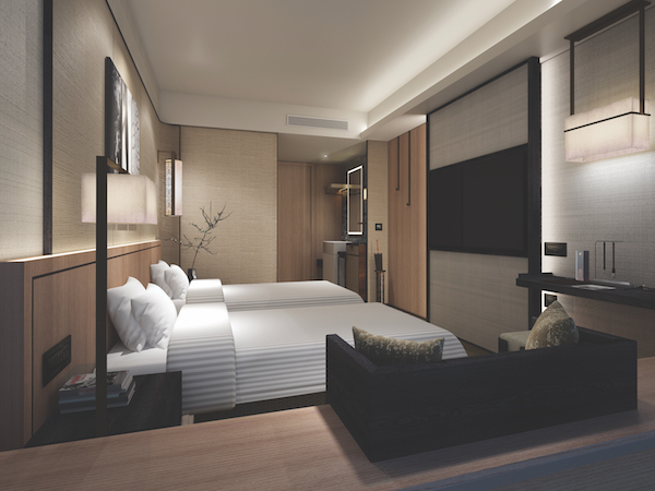 The twin room at The Clan Hotel (Credit: Far East Hospitality/ Artist's Impression) - EDGEPROP SINGAPORE
