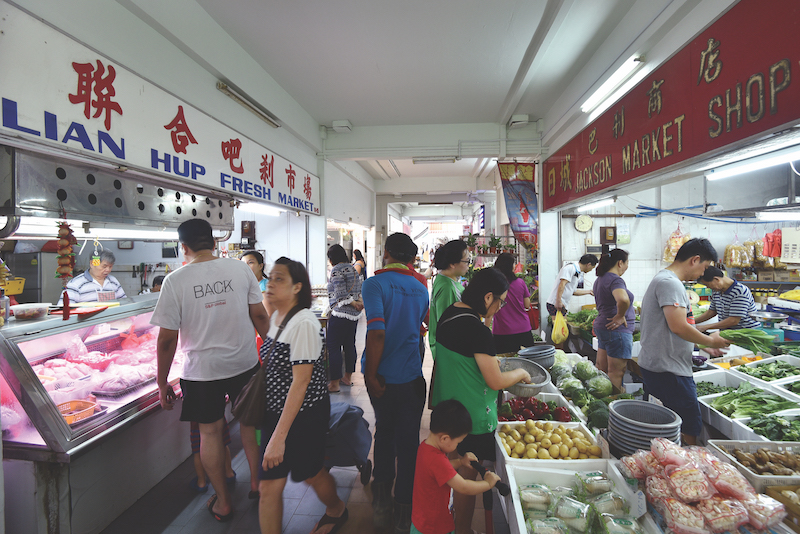 POTONG PASIR - Residents frequent the Potong Pasir wet market
