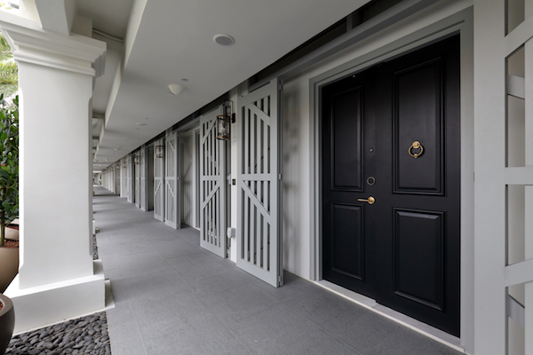The columns, as well as the doors, are conserved (Credit: Samuel Isaac Chua/ The Edge Singapore) - EDGEPROP SINGAPORE