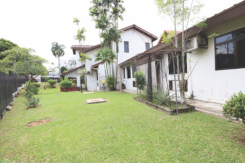 SWISS CLUB ROAD GCB - The house has a sprawling garden and is on an elevated plot