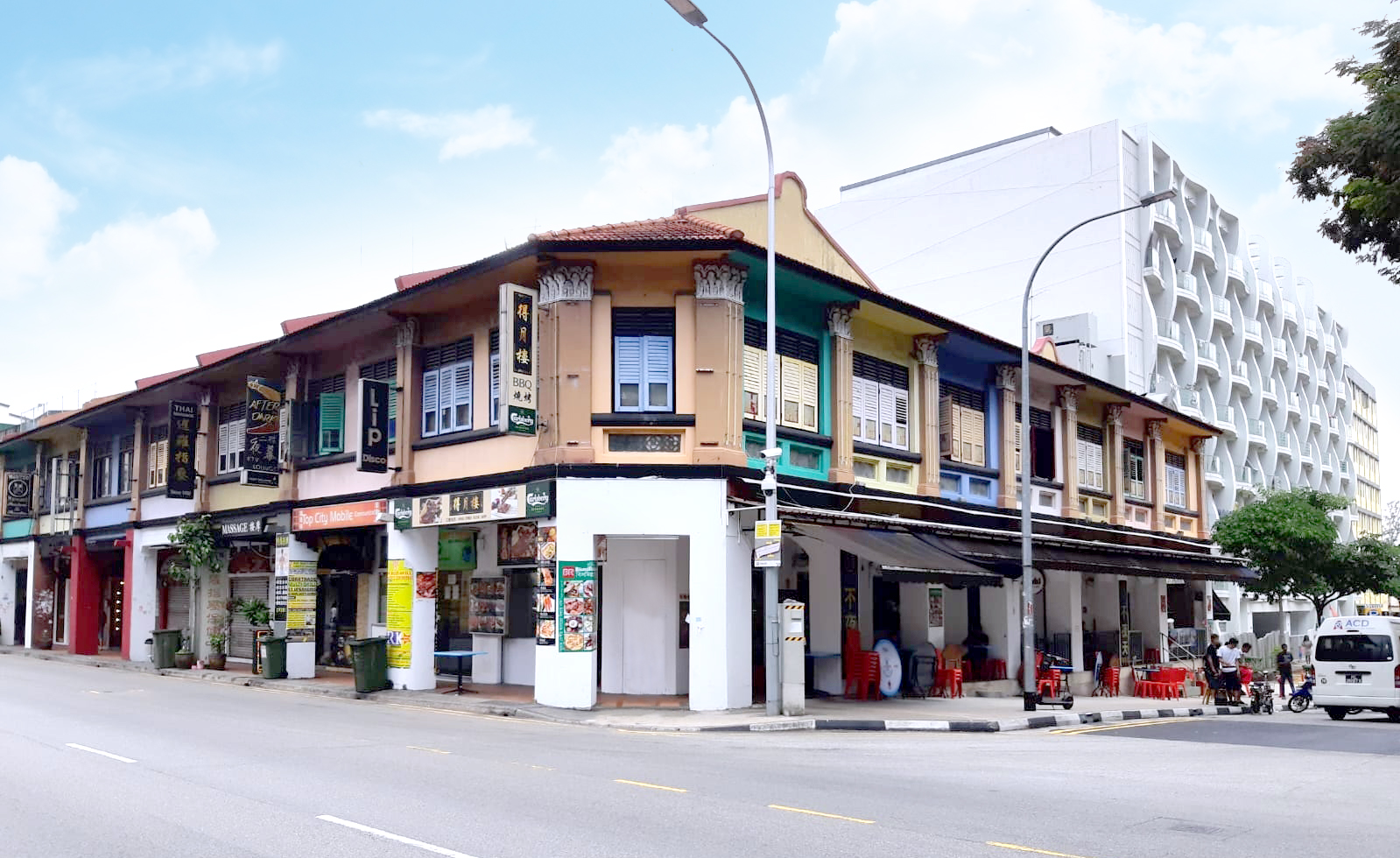 CONSERVATION SHOPHOUSE - The guide price for the seven shophouses in Geylang is about $40 million to $42 million (Credit: Knight Frank Singapore)