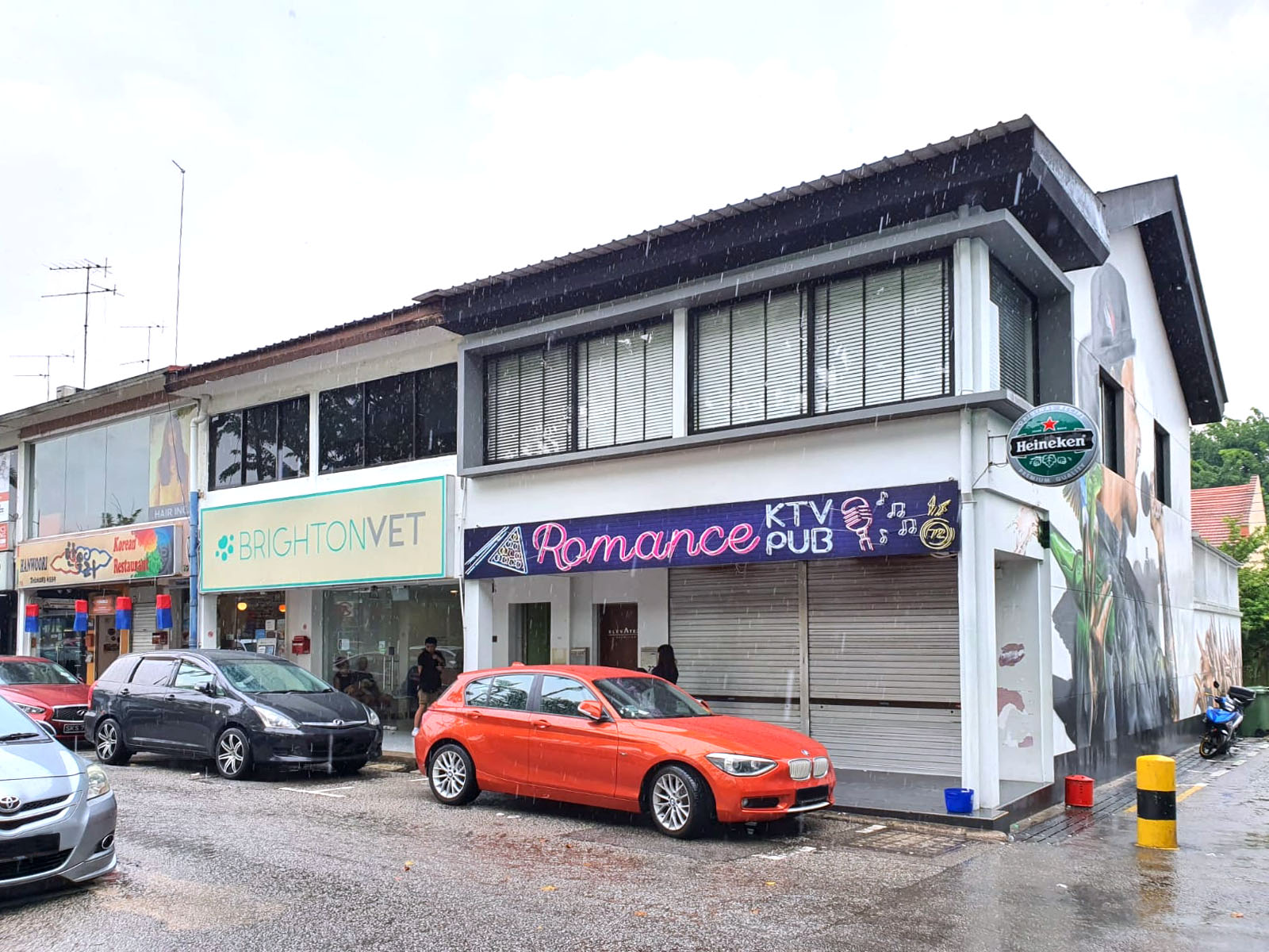 A corner two-storey shophouse at Serangoon Gardens (Credit: Knight Frank Singapore)