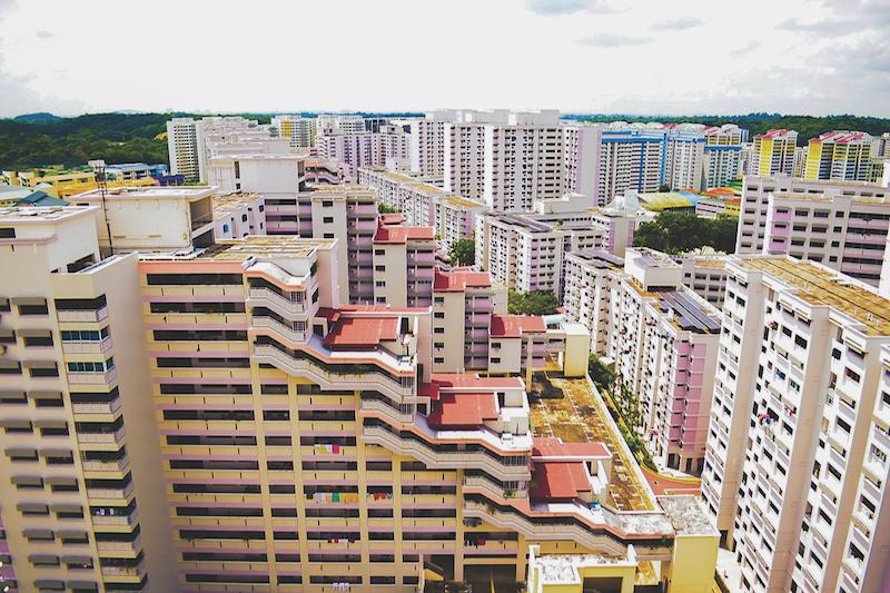 BUKIT PANJANG - Blocks of varying heights at Bukit Panjang look like the undulating terrain of rice terraces
