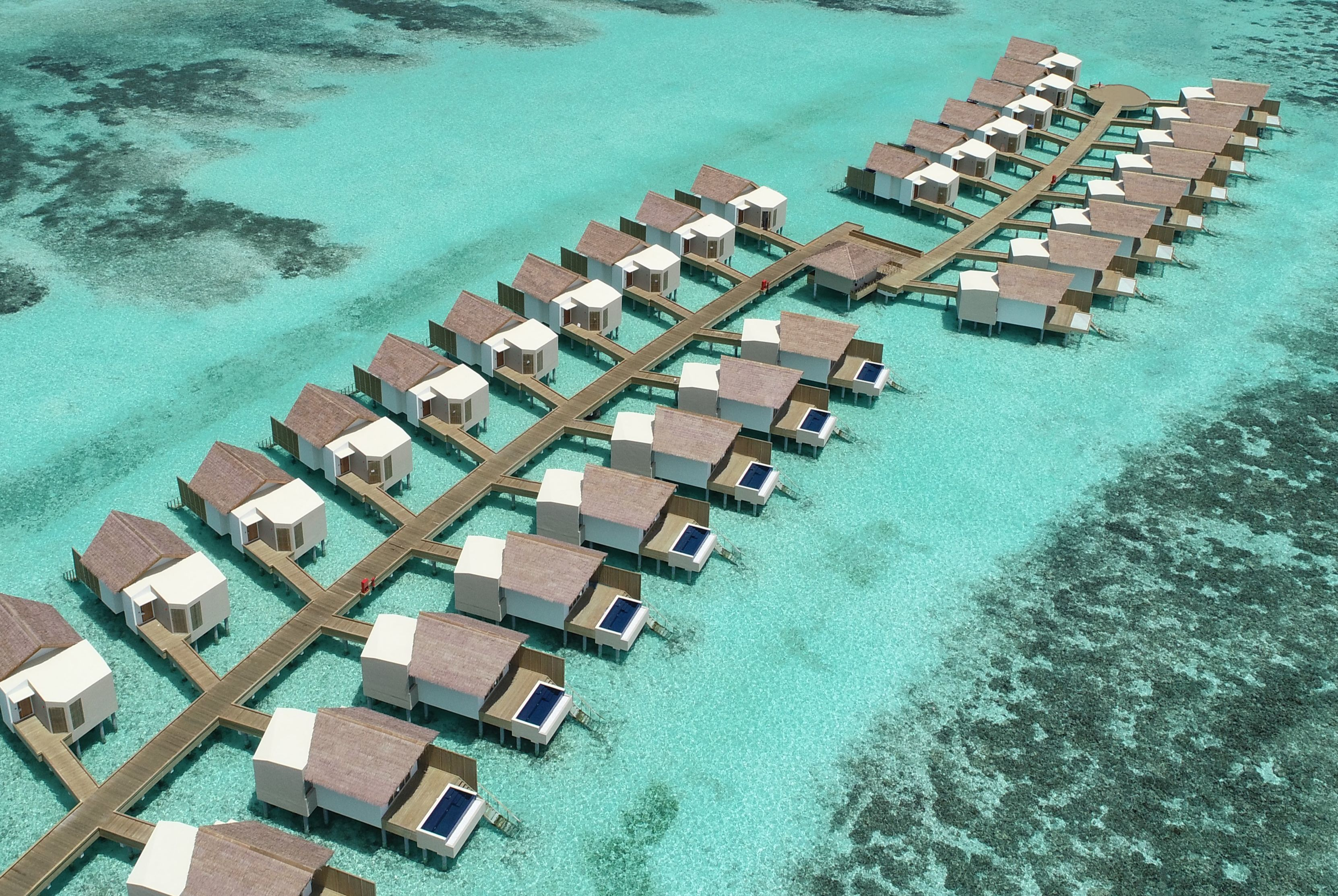 HARD ROCK HOTEL - The overwater villas and overwater pool villas at Hard Rock Hotel Maldives (Credit: Hard Rock Hotel Maldives)
