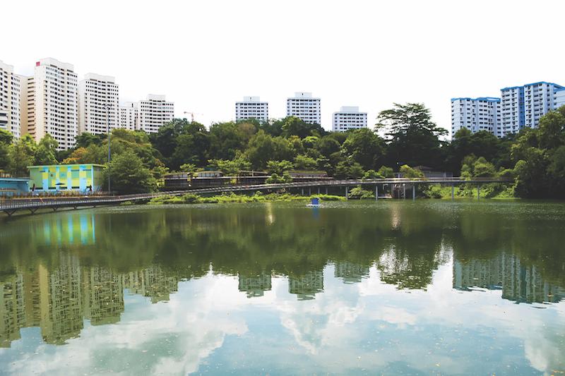BUKIT PANJANG - Pang Sua Pond after a $6.8 million makeover over a 30-month period