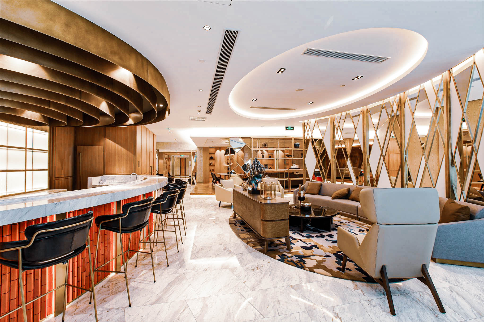 The bar and lounge at The City Society (Credit: Arcc Spaces)