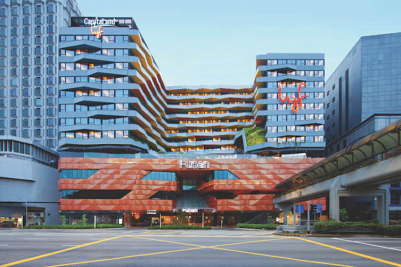Spanning nine storeys, lyf Funan houses 279 apartments with 412 rooms (Credit: The Ascott Limited)