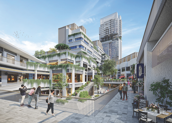 The mixed-used project's commercial zone will be completed in mid-2022 (Credit: Far East Organization) - EDGEPROP SINGAPORE