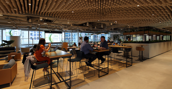 CBRE's office at PLQ  (Credit: Samuel Isaac Chua/ EdgeProp Singapore)