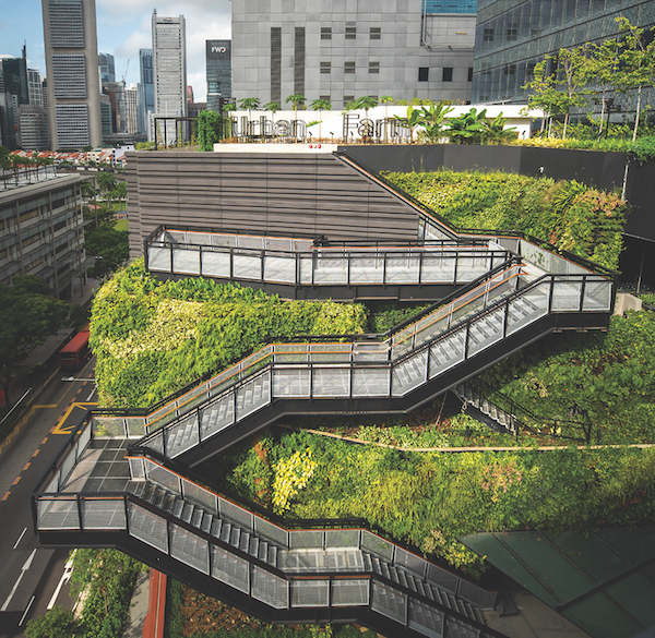 The rooftop urban farm and food garden at Funan (Credit: CapitaLand)
