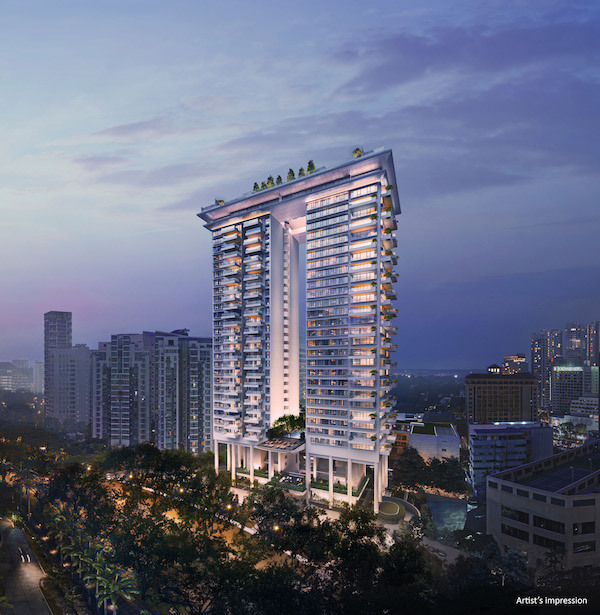 Boulevard 88 is a 28-storey, 154-unit freehold luxury development situated in the heart of District 10's Orchard Boulevard (Credit: CDL)