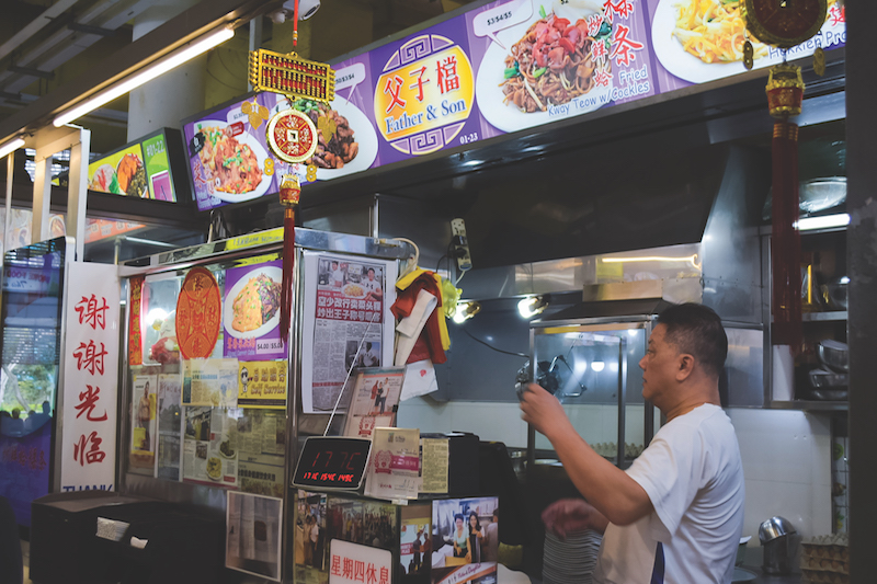 BUKIT PANJANG - The Father & Son stall at the hawker centre serves delicious carrot cake and char kway teow