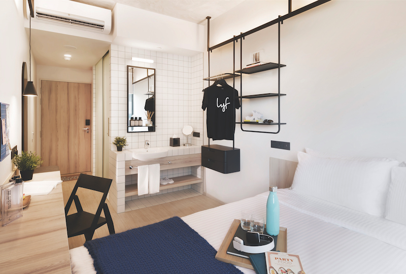 """The """"one of a kind"""" studio unit at lyf Funan Singapore (Credit: The Ascott Limited)"""