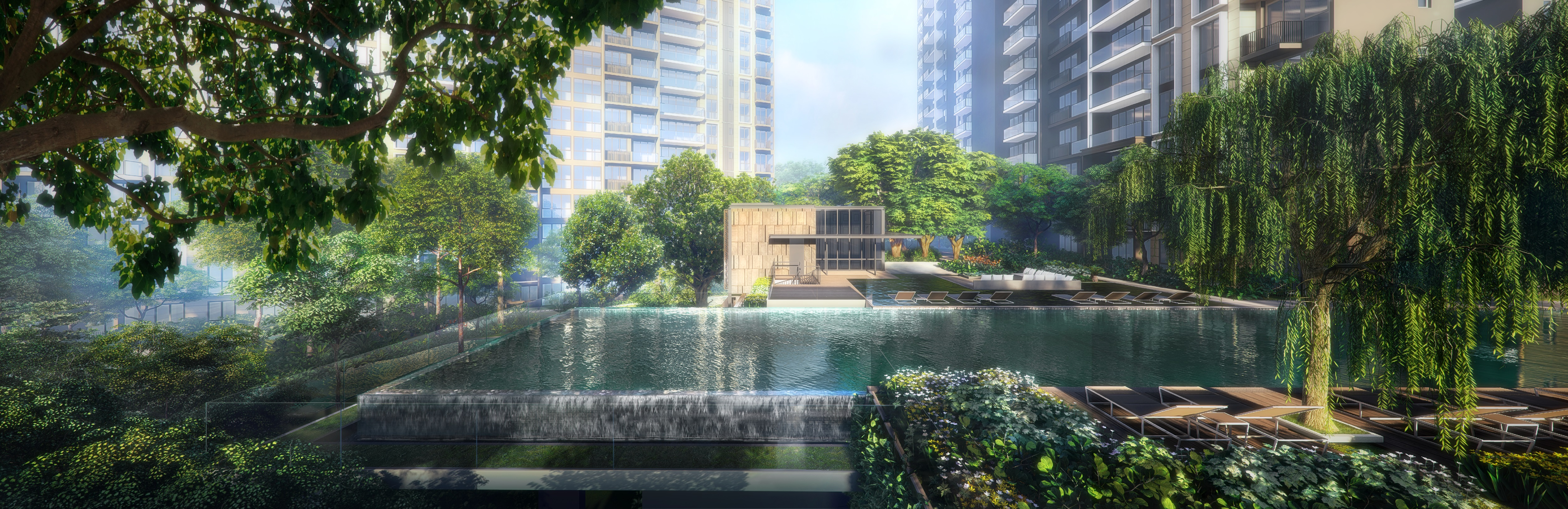 PARK COLONIAL - The project has more than 50 facilities, including a cantilevered, 50m lap pool