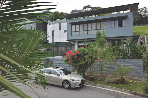 The house on Jalan Dermawan in District 23 is on the market for $10.8 million (Credit: Samuel Isaac Chua/ The Edge Singapore)