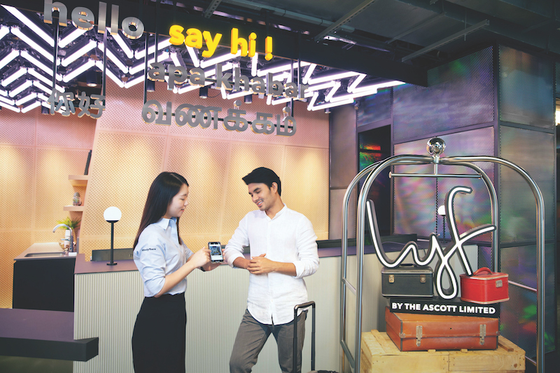 At lyf, residents can download a dedicated app which allows them to check-ins, get room access, make direct bookings, and even participate in social activities (Credit: The Ascott Limited)