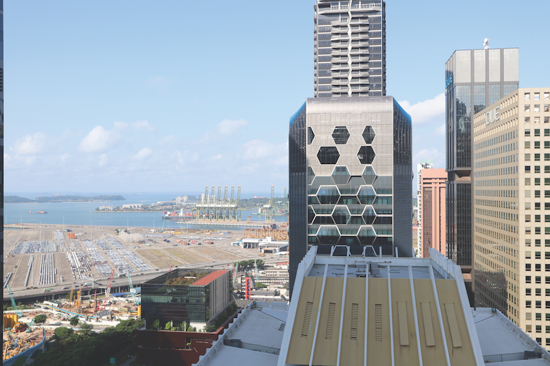 ONE SHENTON - Located on the 33rd floor, the unit to be auctioned enjoys views of the sea - EDGEPROP SINGAPORE
