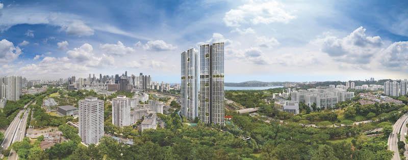这栋拥有99年租赁期的Avenue South Residence涵盖了1,074套住宅单位和近1万平方英尺的商业设施,包括餐饮店和一个托儿中心 (来源:UOL 集团)。