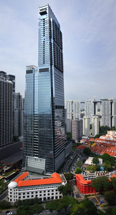 Wallich Residence sits on top of Guoco Tower in Tanjong Pagar Centre - EDGEPROP SINGAPORE