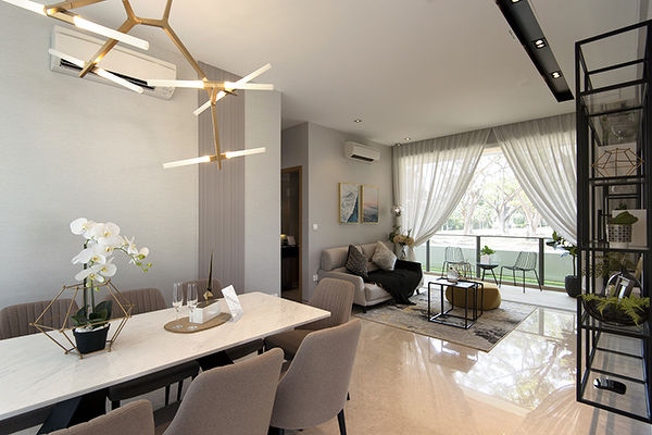 Infini ShowFlat - The units will be fitted with top-end materials and finishes such as marble flooring for the living and dining area (Photo: The Edge Singapore)