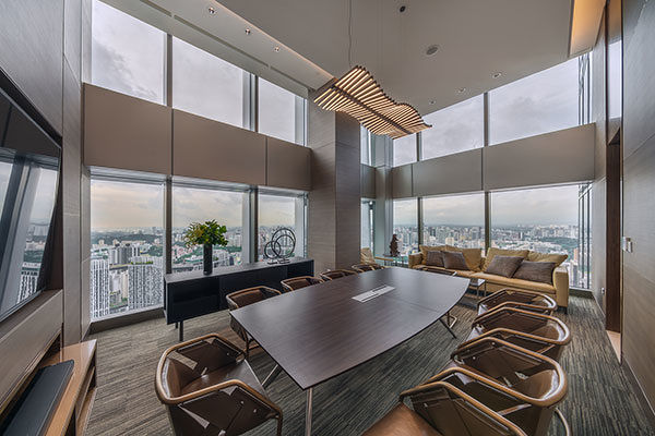 The Connect boardroom is one of the most popular facilities in Wallich Residence (Photo: GuocoLand) - EDGEPROP SINGAPORE