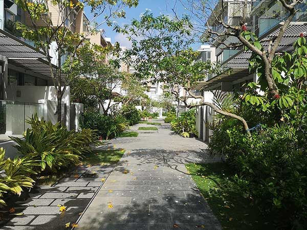 EDGEPROP SINGAPORE - The property is one among 119 strata terraced houses that are surrounding by lush landscaping (Photo: Edmund Tie)