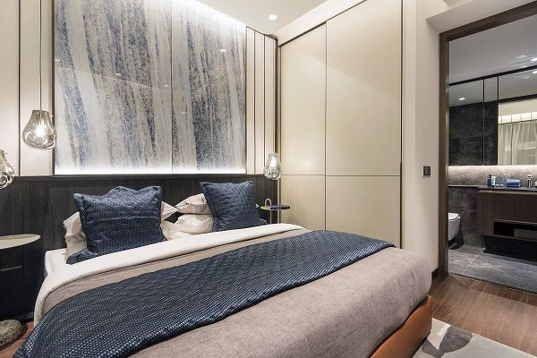 master bedroom at kopar - All the master bedrooms are designed to fit a king-sized bed (Photo: Albert Chua/The Edge Singapore)