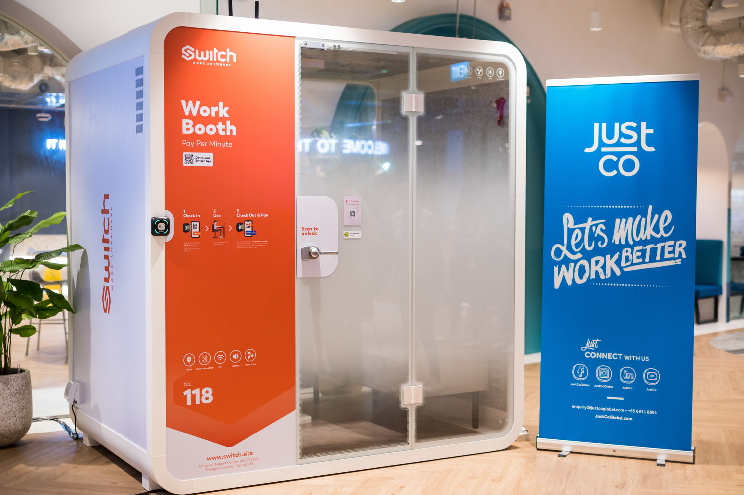 JustCo Switch Booth - EDGEPROP SINGAPORE