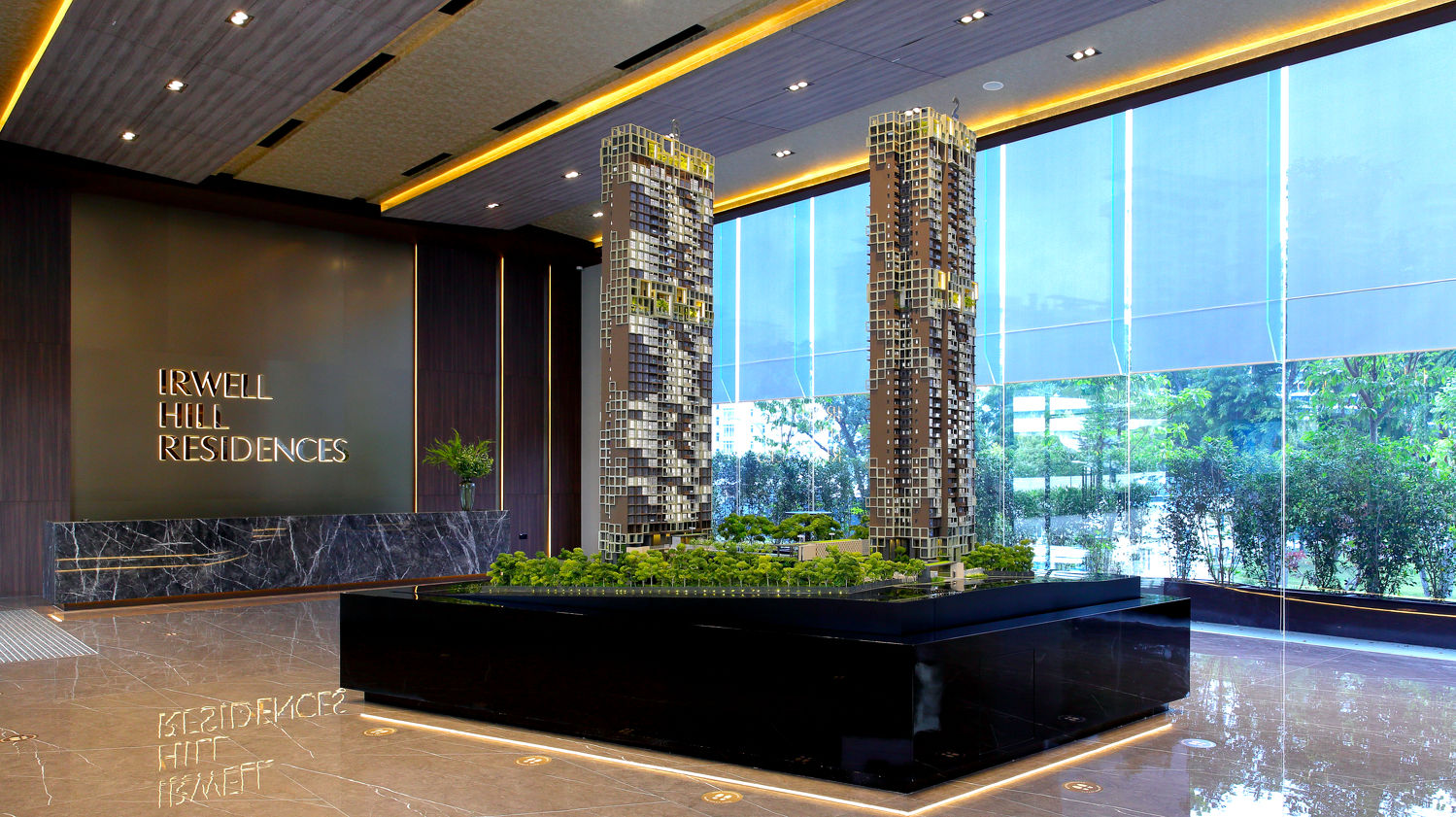 Scale model of Irwell Hill residences - EDGEPROP SINGAPORE