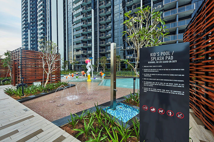 Parc Riviera Kid's pool with waterplay - EDGEPROP SINGAPORE