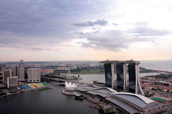 The View from The Sail - The property enjoys panoramic views of Marina Bay and the downtown area (Photo: Samuel Isaac Chua/The Edge Singapore)