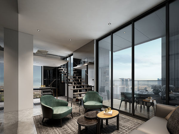 midtown bay loft option - The 3.2m-high ceiling in upcoming Midtown Bay's units allow for a loft platform to be built (Photo: GuocoLand) - EDGEPROP SINGAPORE
