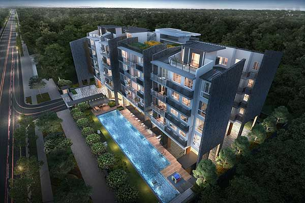 Infini at East Coast - Homes at Infini will come with quality fittings and appliances. Artist Impression: Global Dragon