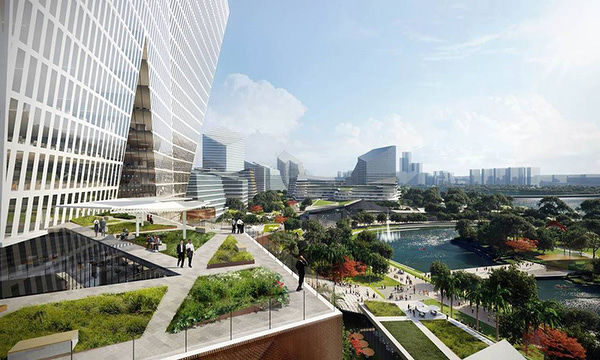 "EDGEPROP SINGAPORE - tencent net city Jonathan Ward, design partner at NBBJ, says that the award-winning design of Net City ""reflects the distributed network of the internet itself"" (Credit: NBBJ) - EDGEPROP SINGAPORE"