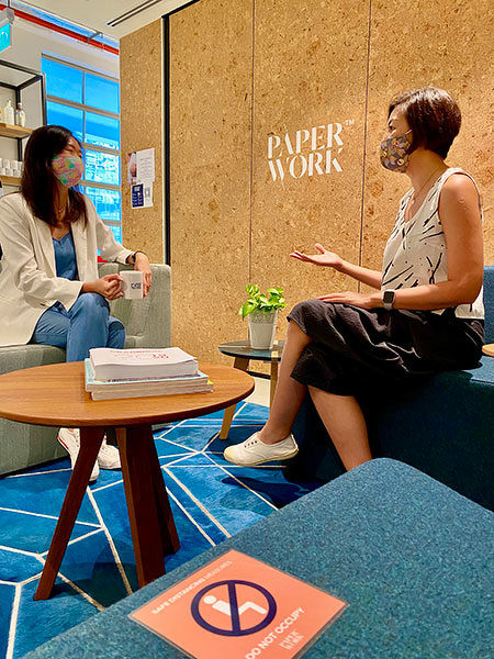 Paperwork coworking space interaction space - EDGEPROP SINGAPORE