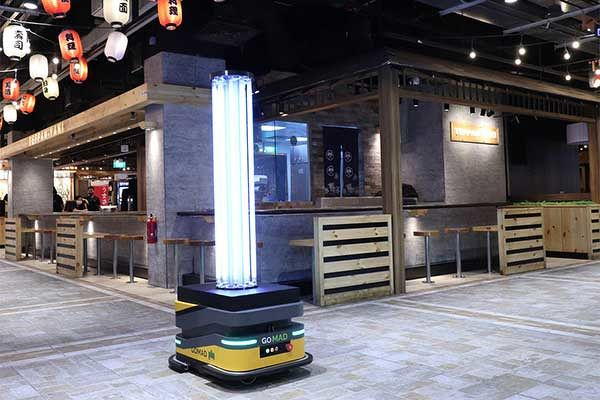 EDGEPROP SINGAPORE - UV disinfection robot  Frasers Property deploys UV disinfectant robots that are equipped with a camera, built-in sensors, software and UV light module that emits rays to eradicate viruses (Photo: Frasers Property)