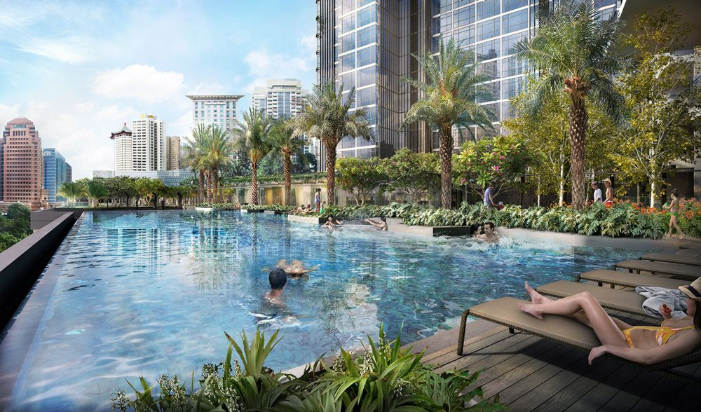 Some amenities at Cairnhill Nine include a 50-metre lap pool, spa pods, golf simulator room and reading room