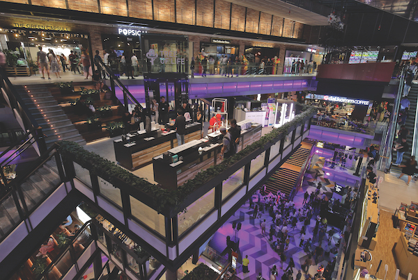 Funan Mall, which reopened in June, include features like a cycling path, a climbing wall and a futsal court (Credit: Samuel Isaac Chua/ The Edge Singapore)