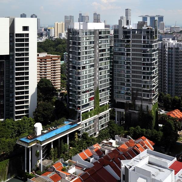 嘉旭阁(Helios Residences)由140套永久产权公寓单位组成,于2011年完工。(来源: Samuel Isaac Chua/The Edge Singapore)